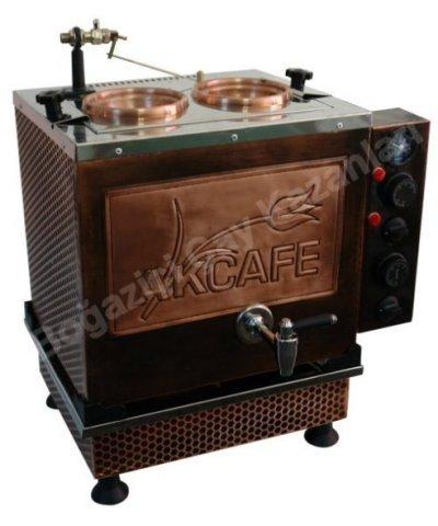 İkili Büro Tipi Bakır Elektrikli Çay Ocağı Kazanı