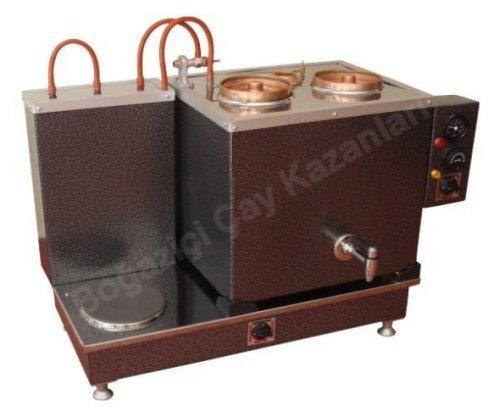 İkili Pleytli Elektrikli Çay Kazanı