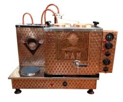 İkili Elektrikli Çay Kazanı, Bakır İşlemeli